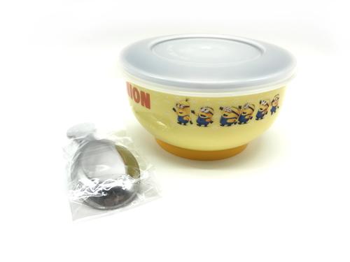 好市吉居家生活ME-716不銹鋼隔熱餐碗神偷奶爸小小兵飯碗兒童餐具