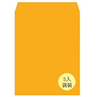 美加美 N1205P 大5K金黃公文封(袋裝) 5入/ 袋