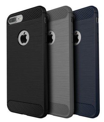 [數位風潮] 碳纖維 簡約 拉絲 手機殼 軟殼 tpu 包邊 防摔 纖薄  iphone 6 6s 7 plus i7 抗震 創意 保護套