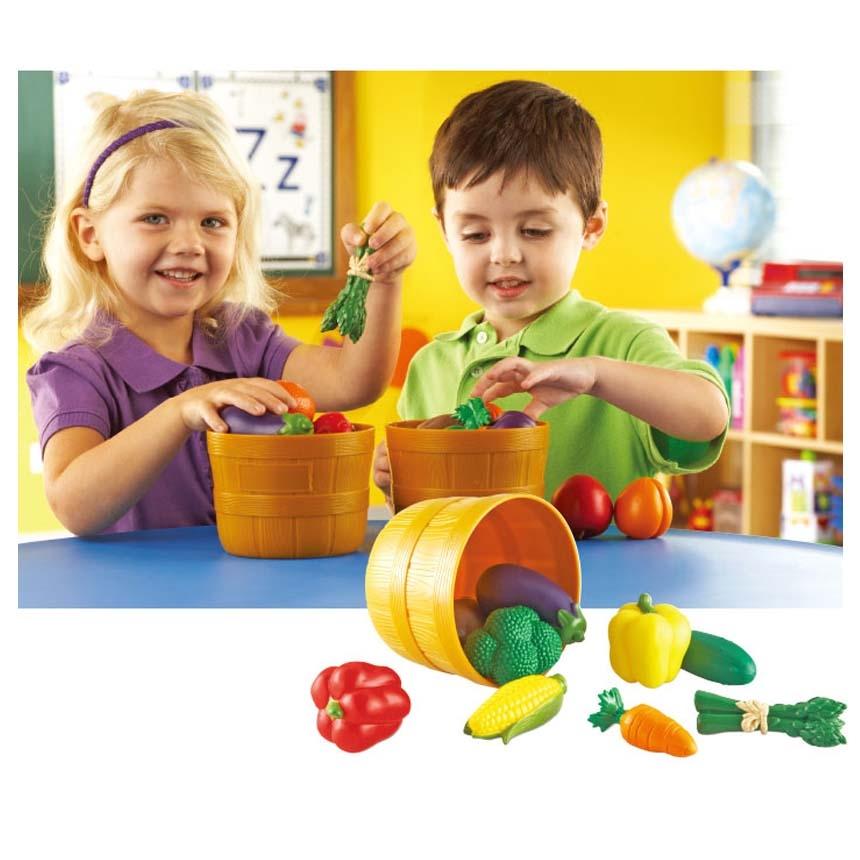 蔬菜籃LR學習資源兒童幼兒教具玩具遊戲情境扮演家酒廚房收納配件籃子蔬菜茄子馬鈴薯