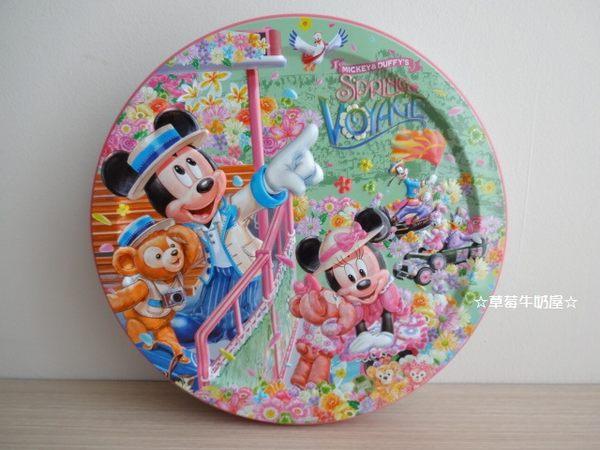 草莓牛奶屋日本進口東京海洋迪士尼Mickey's&Duffy's春限定圓鐵盒單售鐵盒無餅乾