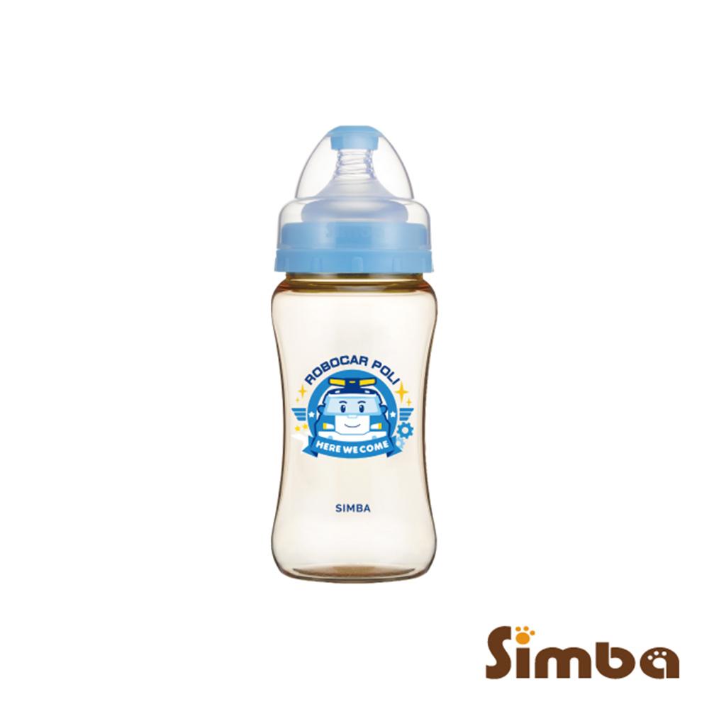 小獅王辛巴 波力PPSU寬口雙凹中奶瓶(270ml)