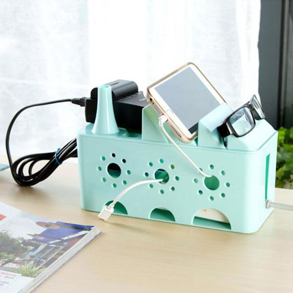 收納用品鏤空電線整理盒桌面整理散熱PMG181收納女王