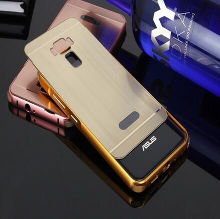 SZ14 ze520kl手機殼金屬邊框拉絲背板asus zenfone 3 5.2殼asus 5.2手機殼