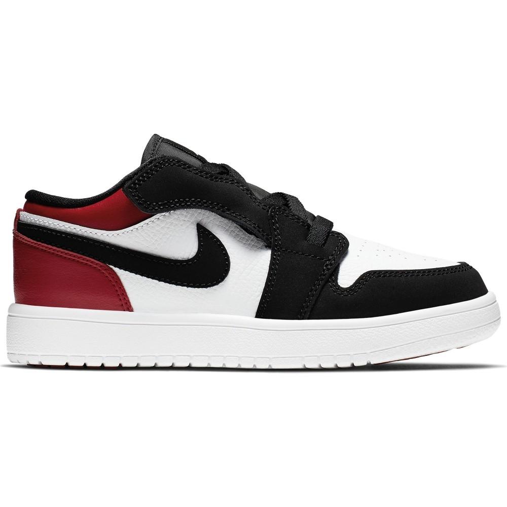 ★現貨在庫★ Nike Jordan 1 Low ALT 童鞋 中童 休閒 喬丹 皮革  白黑紅 【運動世界】BQ6066-116
