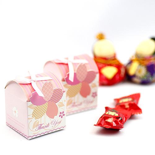 幸福婚禮小物DIY春浪漫櫻花喜糖盒喜糖盒送客禮桌上禮探房禮