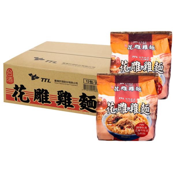台灣菸酒花雕雞麵200gx3包4袋裝1箱入小三美日限宅配