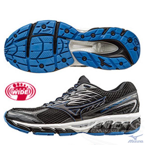 MIZUNO美津濃WAVE PARADOX 3 2E男慢跑鞋黑*黑扁平足專用鞋款