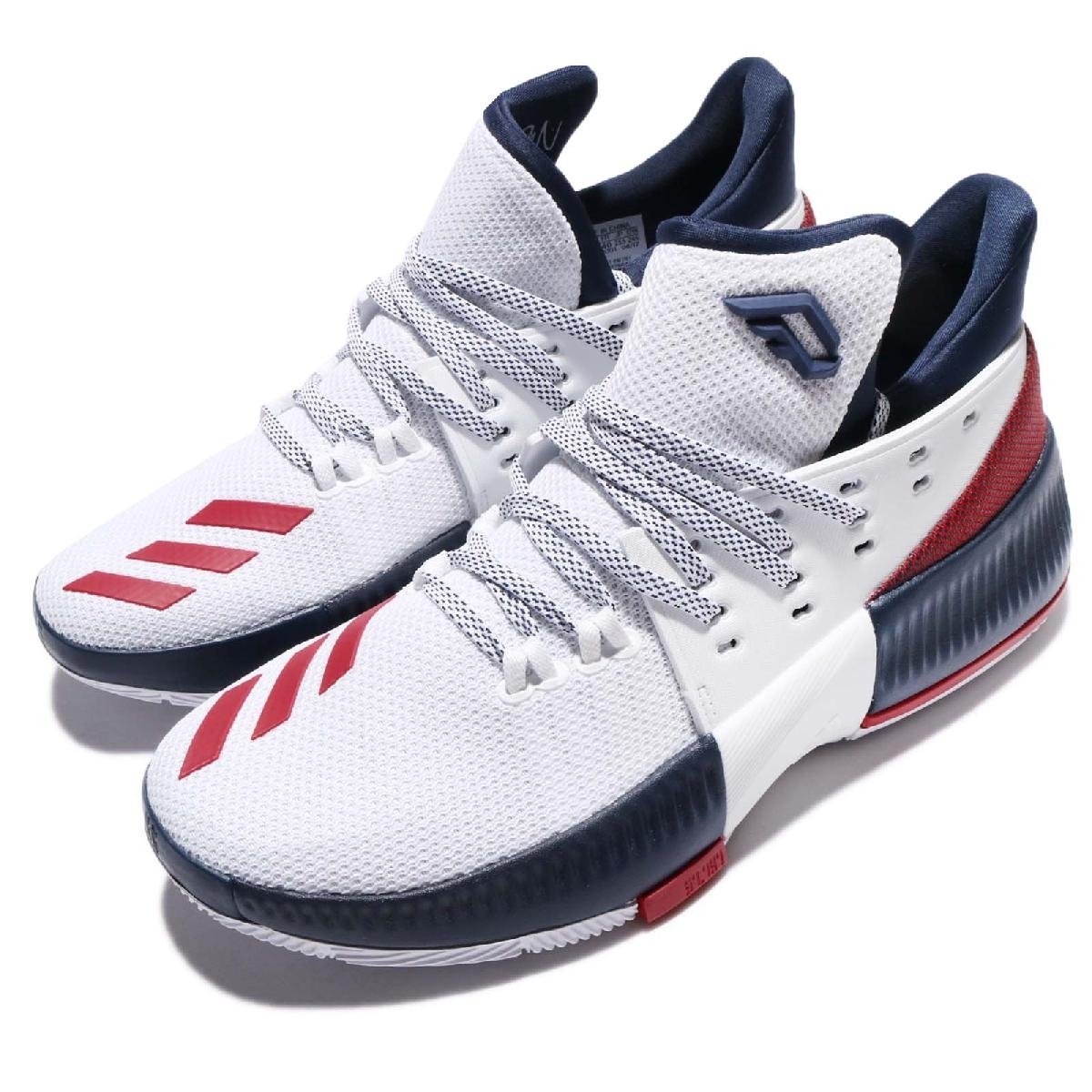 adidas籃球鞋Dame 3 J白藍紅USA配色Damian Lillard女鞋大童鞋PUMP306 BW1101