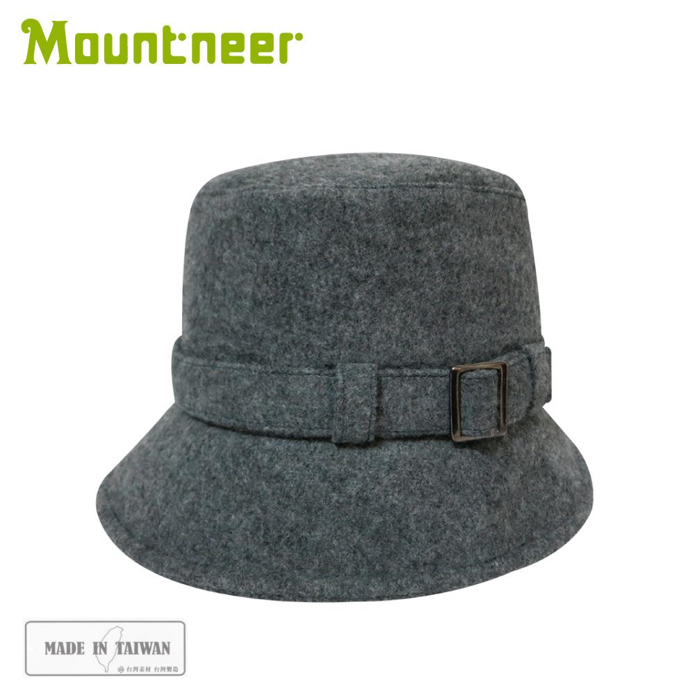 【Mountneer 山林 羊毛保暖筒帽《麻灰》】12H16/羊毛帽/保暖帽/休閒帽