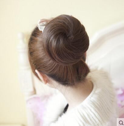 夏洛克新娘假髮盤發髮髻丸子頭花苞頭假髮圈逼真假髮髻假髮頭花