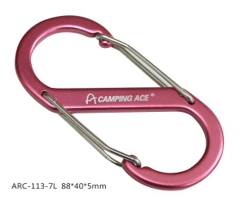 【四入裝】 Camping Ace 野樂 大8字扣 顏色隨機 ARC-113-7L S型勾環 鑰匙圈 配件【易遨遊戶外用品】