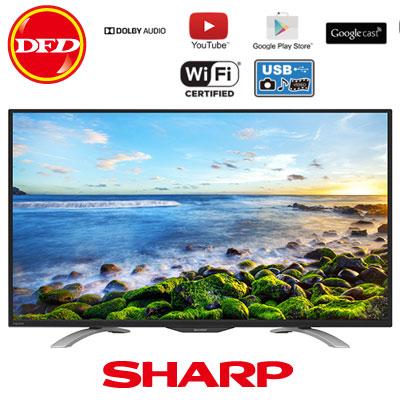 新品上市SHARP夏普LC-45LE580T 45吋液晶電視FHD Android TV公貨45LE580T送北縣市精緻壁裝