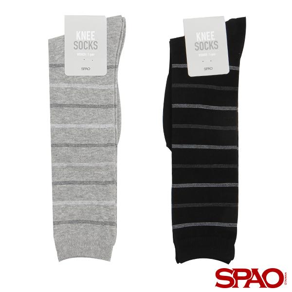 SPAO 女款條紋針織長筒襪-共2色
