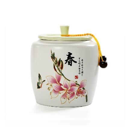 春夏秋冬陶瓷茶葉罐大號密封罐糖果儲藏罐紅茶綠茶普洱茶罐包郵w