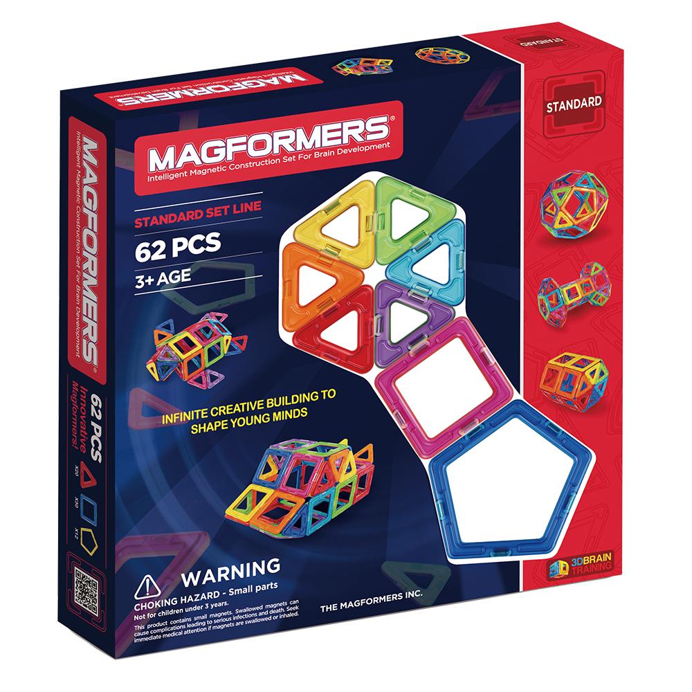 【韓國 Magformers 磁性建構片】磁性建構片-62片裝 ACT05601