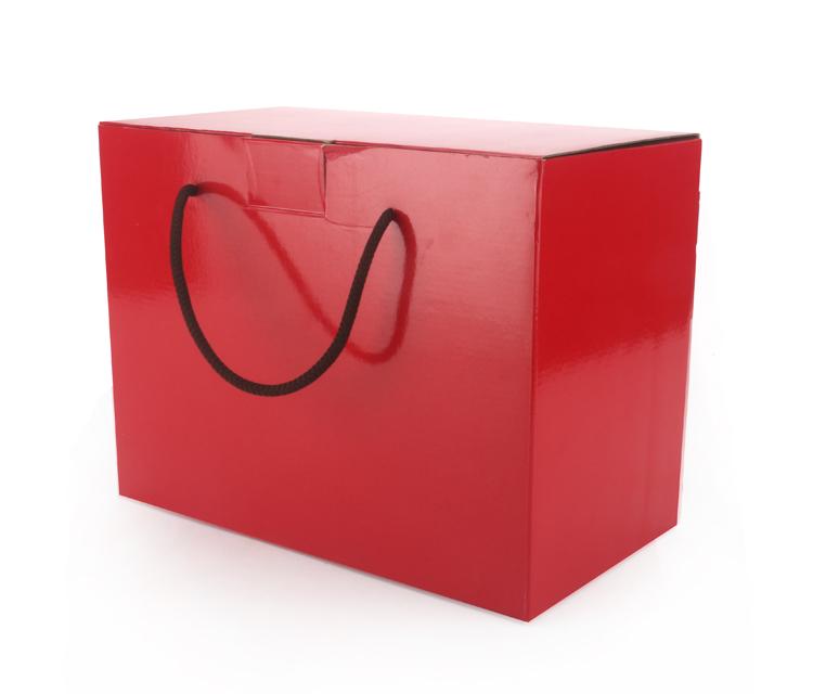 大紅盒手提瓦楞盒20入組聖誕節火雞烤雞外帶盒禮物盒布偶大紙盒手提盒