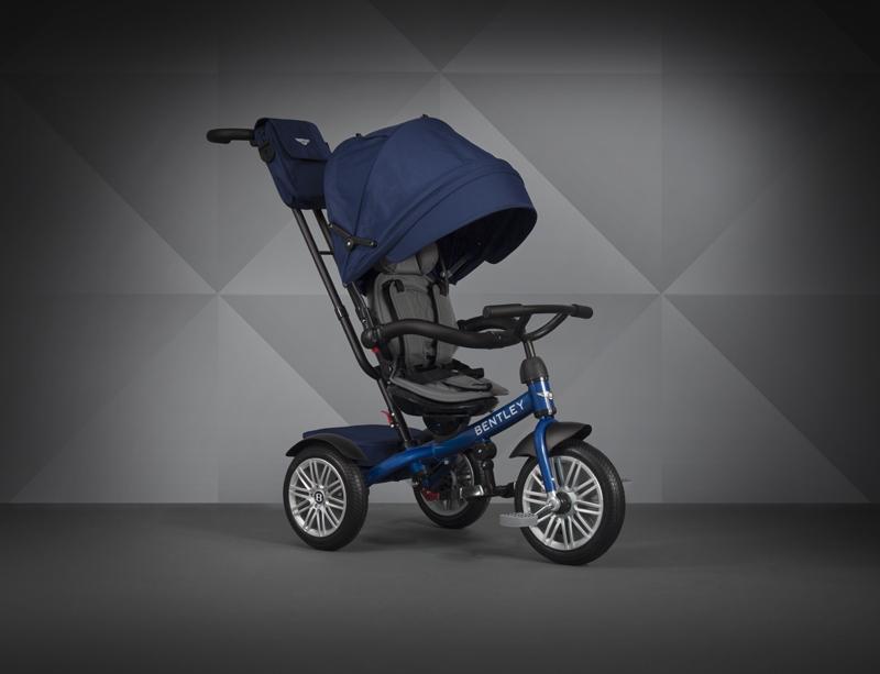 【愛吾兒】Bentley 賓利 三輪嬰幼兒手推車-藍色 原廠授權 Bentley Tricycle