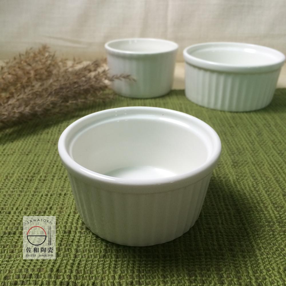 佐和陶瓷餐具大同餐具-象牙色強化瓷迷你布丁盅編號:P9634烤布丁奶酪果凍小甜點