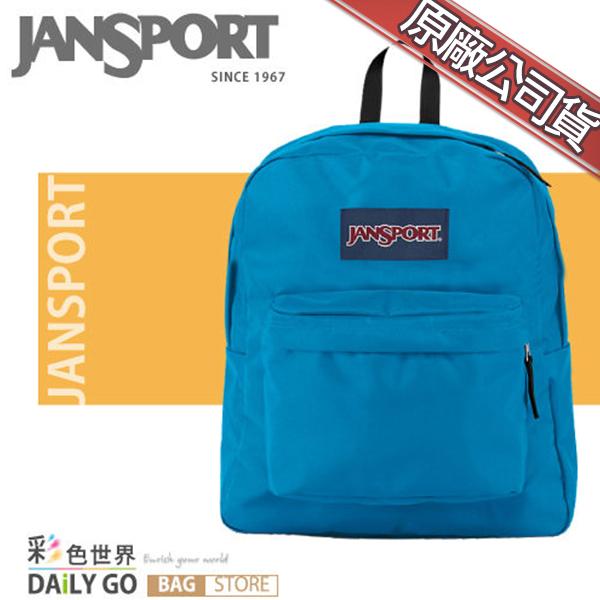 JANSPORT後背包包大容量筆電包韓版帆布包防潑水學生書包彩色世界43911-01F