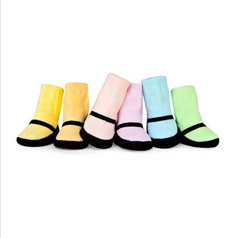 Trumpette襪子彌月禮珍瑪莉鞋圖案女童短襪附原廠紙盒包裝盒