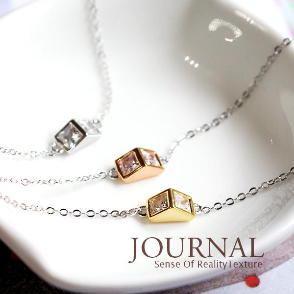 韓劇太陽的後裔宋慧喬同款三角幾何手鍊質物日誌Journal