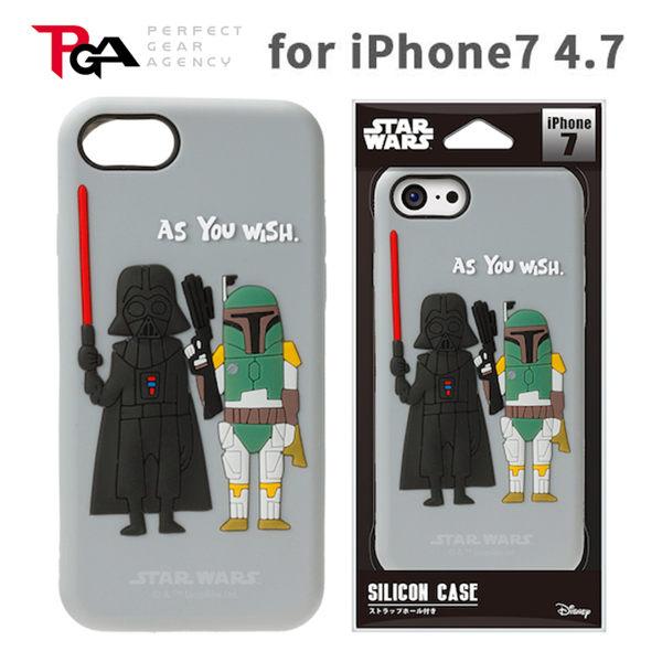 漢博iPhone7 6S 4.7吋iJacket Star Wars星際大戰矽膠立體保護軟殼黑武士波巴