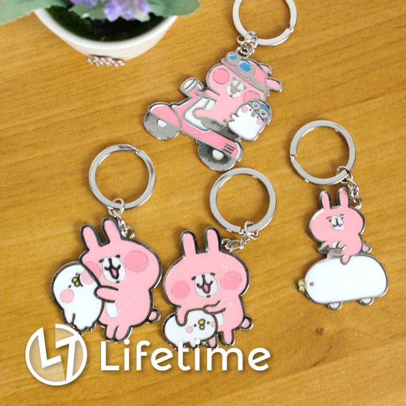 ﹝卡娜赫拉鐵製鑰匙圈﹞正版造型吊飾 鑰匙扣 兔兔 P助〖LifeTime一生流行館〗B23125