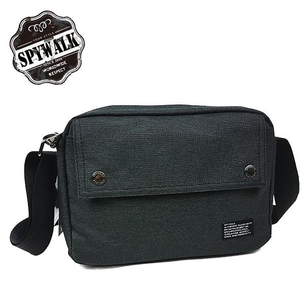 休閒袋 SPYWALK休閒橫格紋料工作包斜肩包側包NO:9300-1