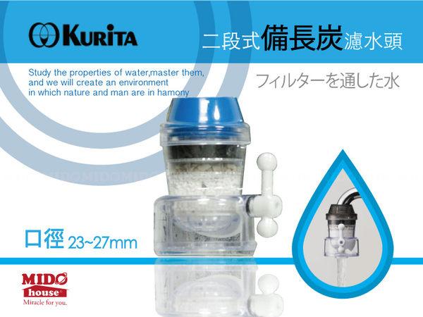 日本製廚房水龍頭專用兩段式倍長炭濾水頭2色Midohouse