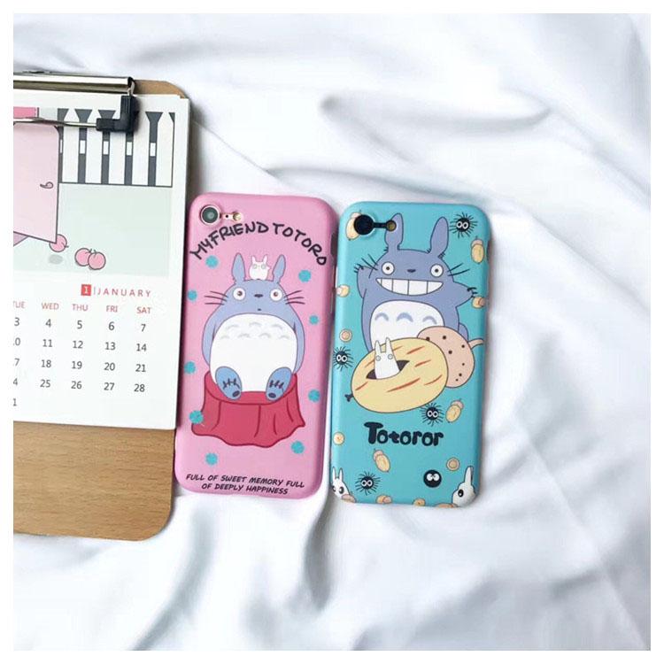 iPhone手機殼 可掛繩 韓風可愛龍貓春色 矽膠軟殼 蘋果iPhone7/iPhone6 手機殼