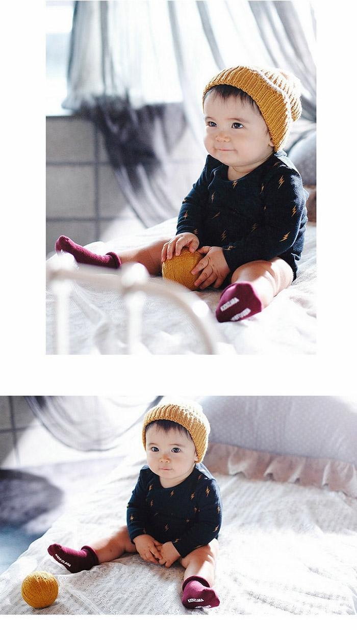 [韓風童品](3雙/組)新款純色兒童素色襪/素色男童女童寶寶襪 /兒童百搭襪子/點膠防滑兒童襪