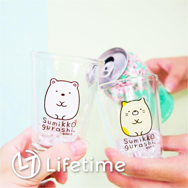 ﹝角落生物乾拜玻璃杯150ml﹞正版玻璃杯 水杯 乾杯 酒杯 透明杯 白熊 〖LifeTime一生流行館〗