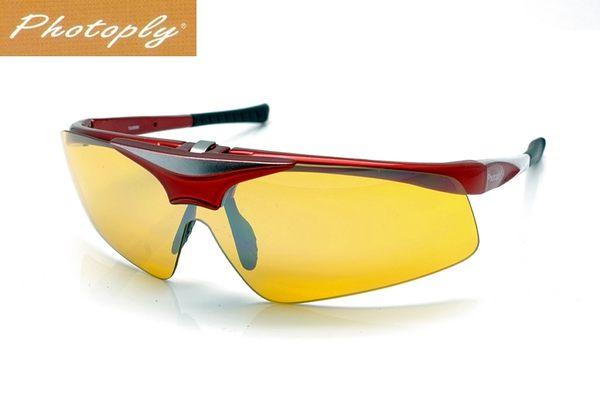又敗家台灣斌視PHOTOPLY紅色可掀鏡片可換大聯盟MLB眼鏡運動太陽眼鏡CD12防藍光眼鏡抗藍光眼鏡