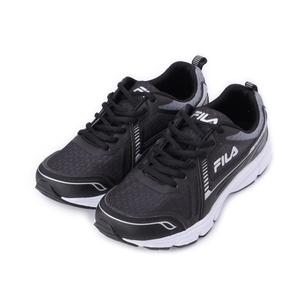 FILA 漸層透氣休閒跑鞋 黑灰銀 1-J906S-011 男鞋 鞋全家福