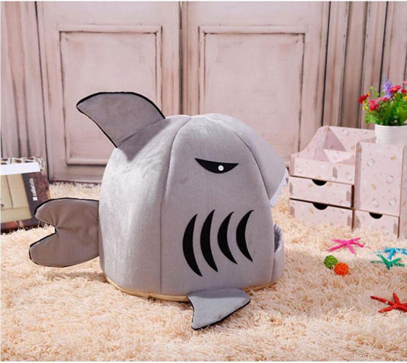 【葉子小舖】鯊魚造型寵物窩/寵物床/小型犬/貓窩/狗窩/毛小孩/喵星人/汪星人