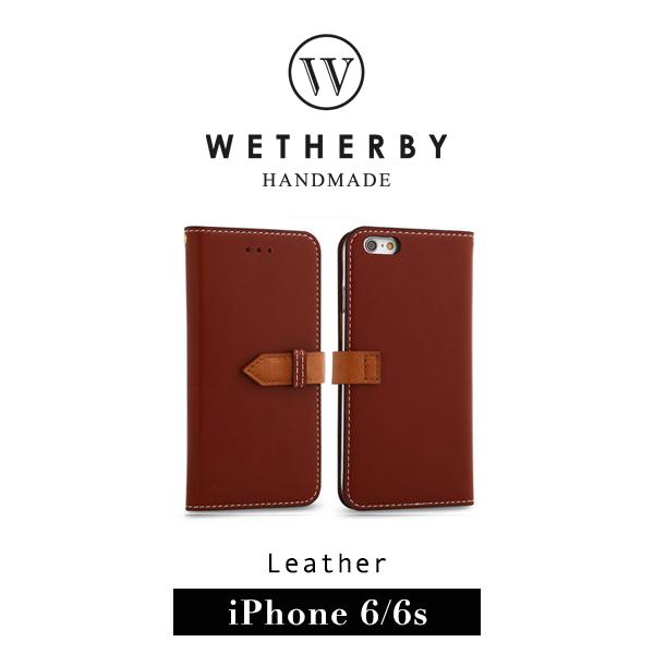 G2 STORE WETHERBY SNAP iPhone 6 4.7吋手工製作真皮保護套皮套紅棕色