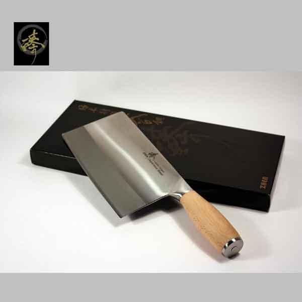 料理刀具三合鋼系列-中式菜刀-小剁刀橡木柄臻高級廚具-SC829-4CS OAK