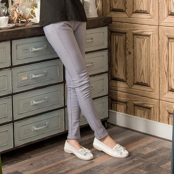 長褲 Ringbear眼圈熊-創造完美腿型.條紋配色鬆緊褲頭設計內貼絨素面長褲P93(黑、灰、藍S-2L)
