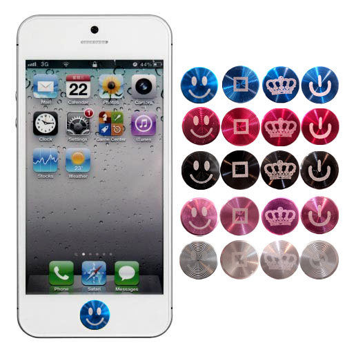 ✔APPLE i phone 5/IPHONE 5C/5S HOME鍵 貼 多彩 鋁鎂合金 按鍵貼/金屬 按鍵貼/雷射雕刻/細緻紋路/觸感出眾