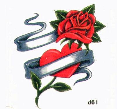 薇嘉雅 玫瑰花 超炫圖案紋身貼紙 d61