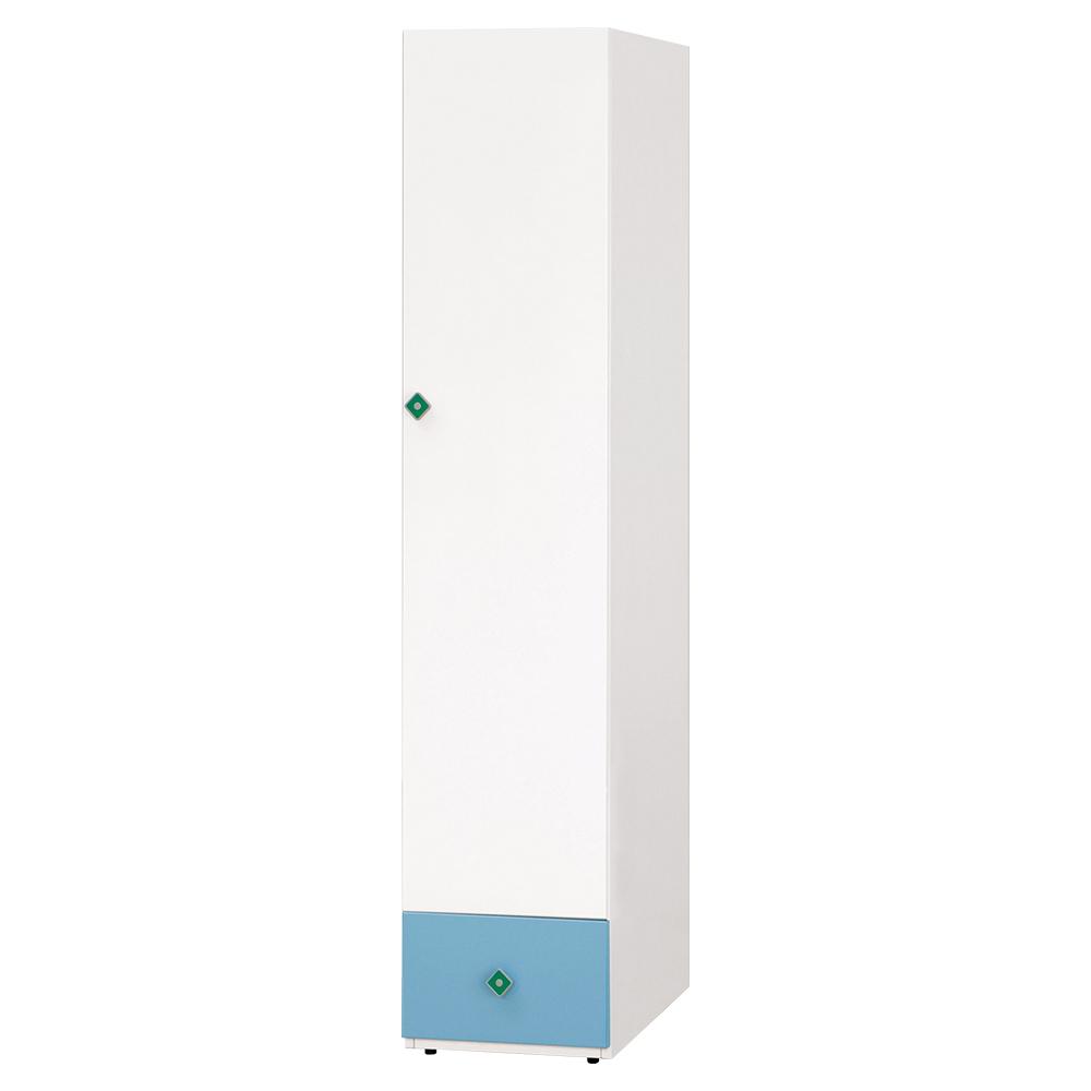 【森可家居】艾文斯1.4尺衣櫥 6CM649-7 窄細長型 衣櫃