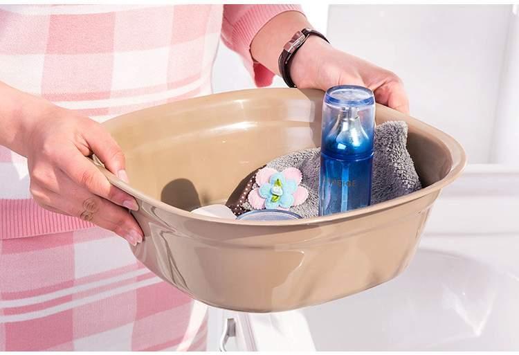 TwinS炫彩創意居家方型加厚多功能洗臉盆菜盆果盆大號伯澄