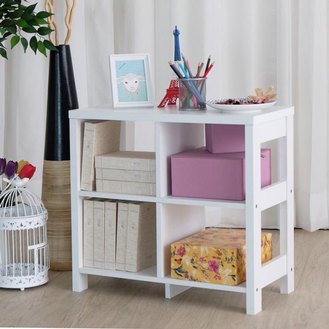 澄境二層四格隔間展示收納櫃白色書櫃隔間櫃櫃子櫥櫃邊櫃電視櫃置物櫃2564