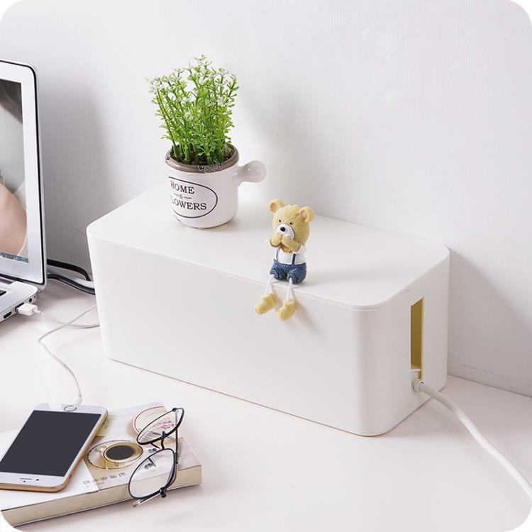 電線收納盒電源線集線盒插線板電腦線整理盒數據線收線盒