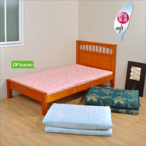 DFhouse黛爾夢3.5尺單人緹花布透氣床墊三色孟宗竹單人床雙人床床架床組透氣舒適床墊