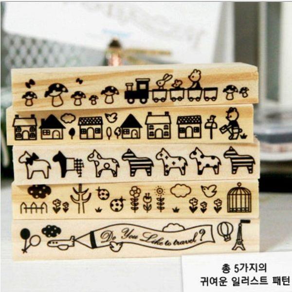 木質印章裝飾長款木印章想購了超級小物
