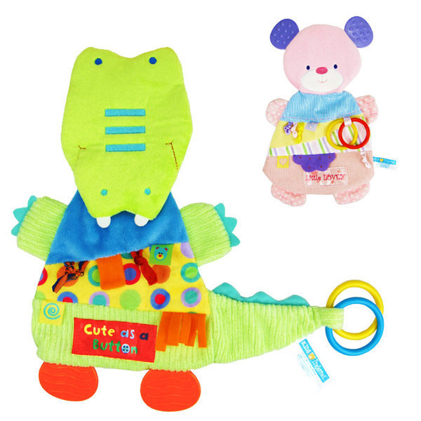 Kids preferred嬰幼兒動物掛巾安撫巾口水巾響紙牙膠