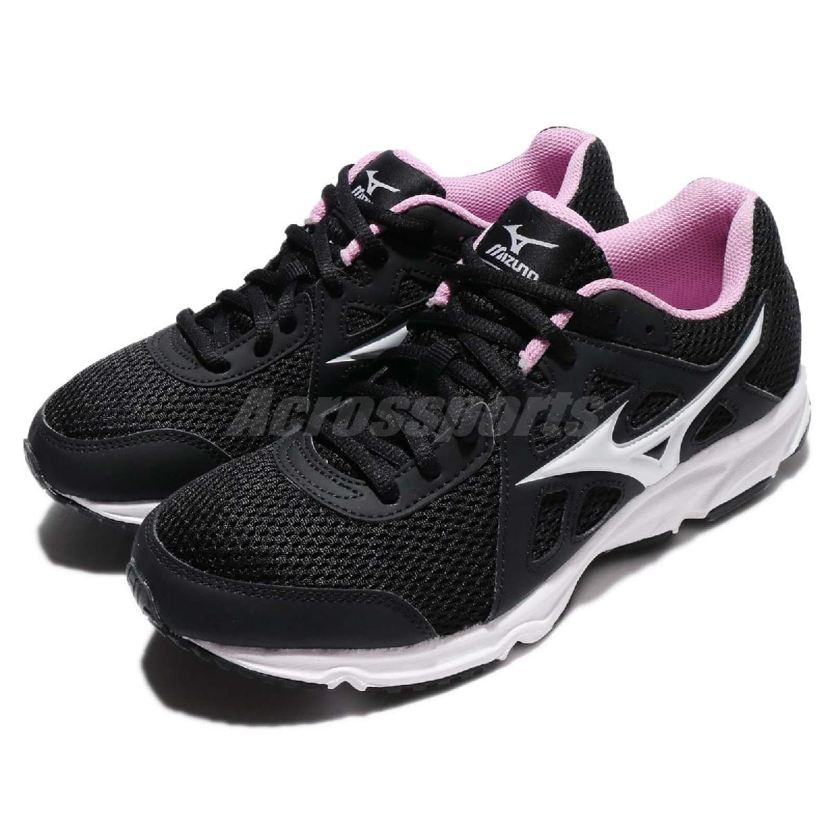 Mizuno 慢跑鞋 Maximizer 19 黑 白 網布 透氣輕量 黑白 運動鞋 基本款 女鞋【PUMP306】 K1GA170101