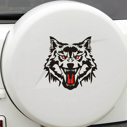 狼頭車貼車身貼惡靈騎士安全帽貼刮痕機車貼車貼反光貼個性貼紙貼膜沂軒精品A0300